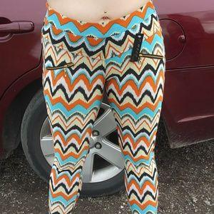 Colorful zig zag pants